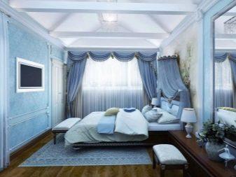 серо голубые шторы