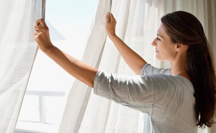 сухая чистка штор на дому
