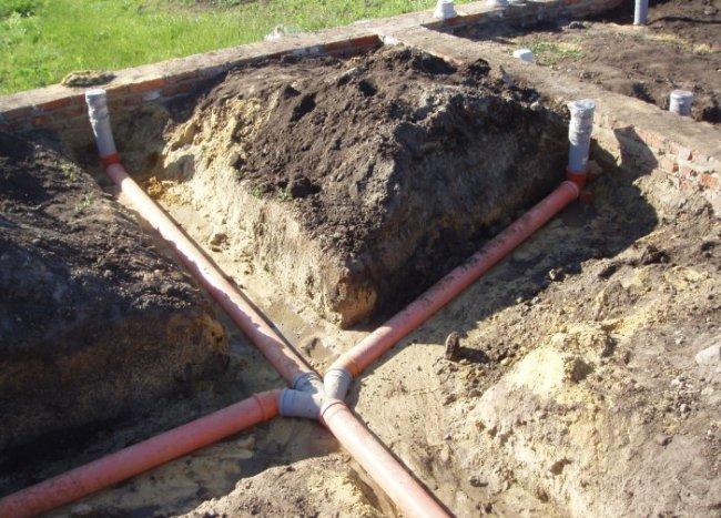 Выгребная яма с переливом