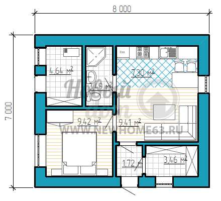 Дом 7 на 8 планировка и хитрости постройки: проект +фото и видео