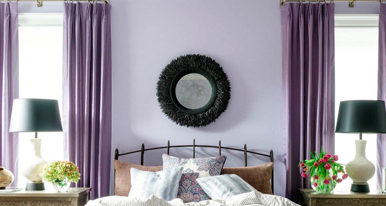 Стены фиолетового цвета — красивые идеи применения фиолетового и рекомендации по выбору сочетаний (95 фото + видео)