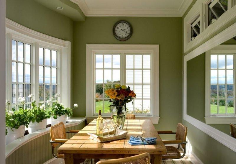 оливковый цвет краски для стен