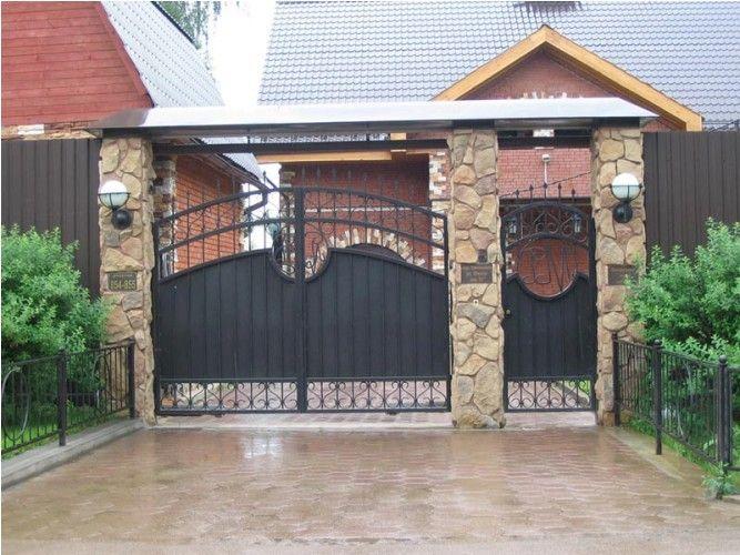 Ворота и калитка для частного дома — фото лучших вариантов