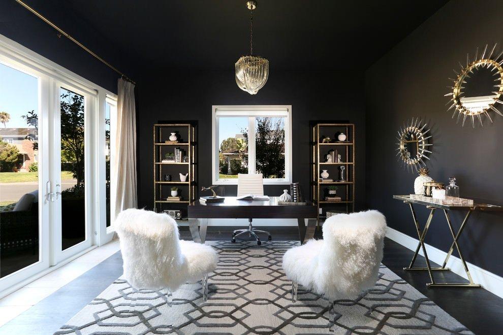 Черный цвет в интерьере: сочетание цветов, фото