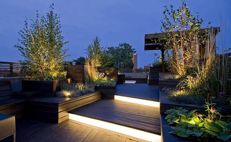 Освещение участка загородного дома: виды, экономные варианты, требования и схемы - самстрой - строительство, дизайн, архитектура.