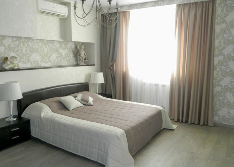 Шторы для спальни - 80 фото-идей, виды штор, как выбрать