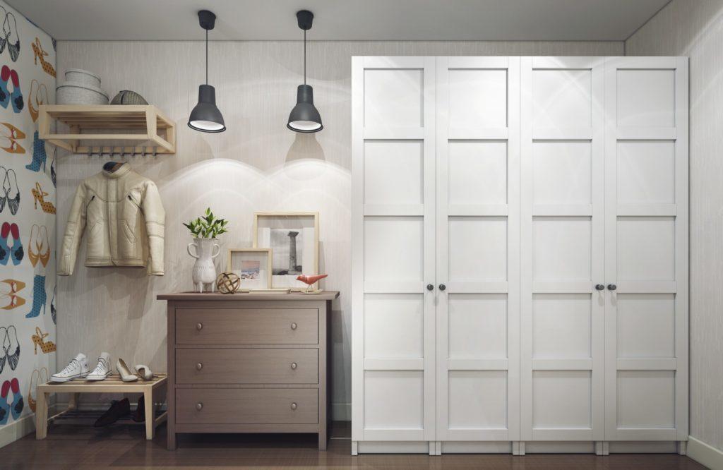 Раздвижные двери для гардеробной +75 фото, обзор откатных, купе дверей