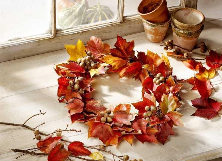 красивые поделки из листьев