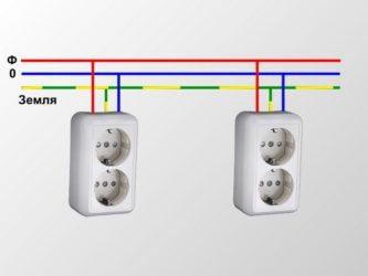 Подключение розеток-подробный электромонтаж разъема
