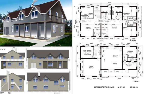 планировки частных домов