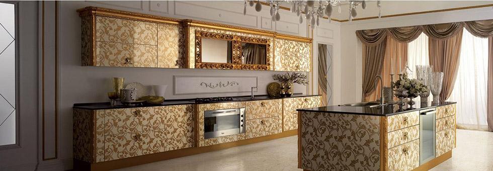 Итальянская мебель для кухни классика (63 фото): кухонные столы