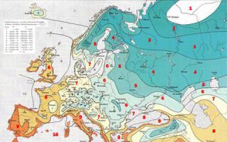 Зоны морозостойкости растений в россии таблица