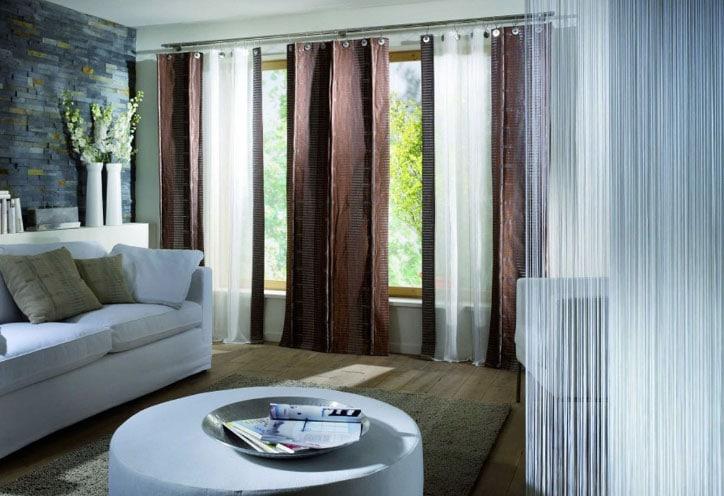 Дизайн тройных штор — советы с фото примерами