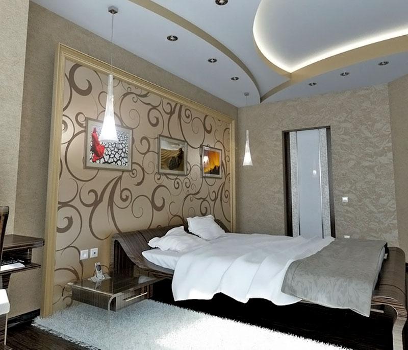 Фигурный потолок из гипсокартона своими руками, стили оформления, фото