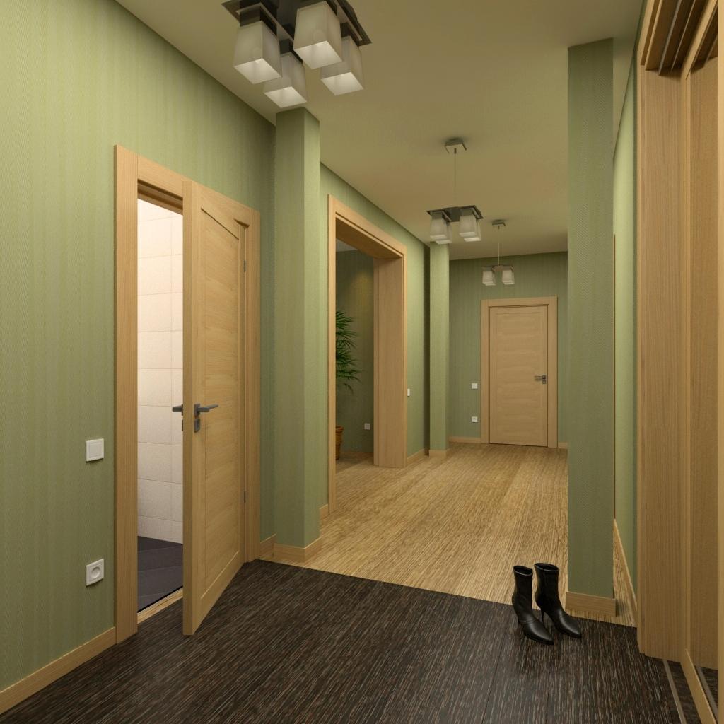 в какой цвет покрасить коридор