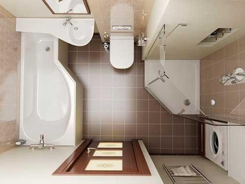 Плитка для маленькой ванной комнаты (150+ фото) - modernplace