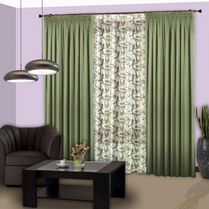 Зелёные (в том числе бирюзовые или оливковые) шторы в интерьере + фото