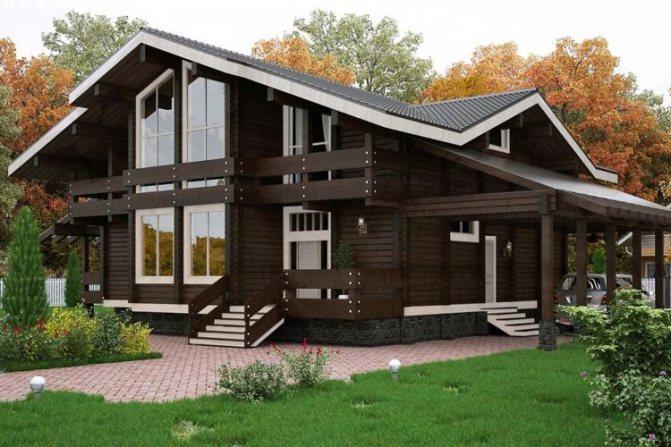 одноэтажные дома шале