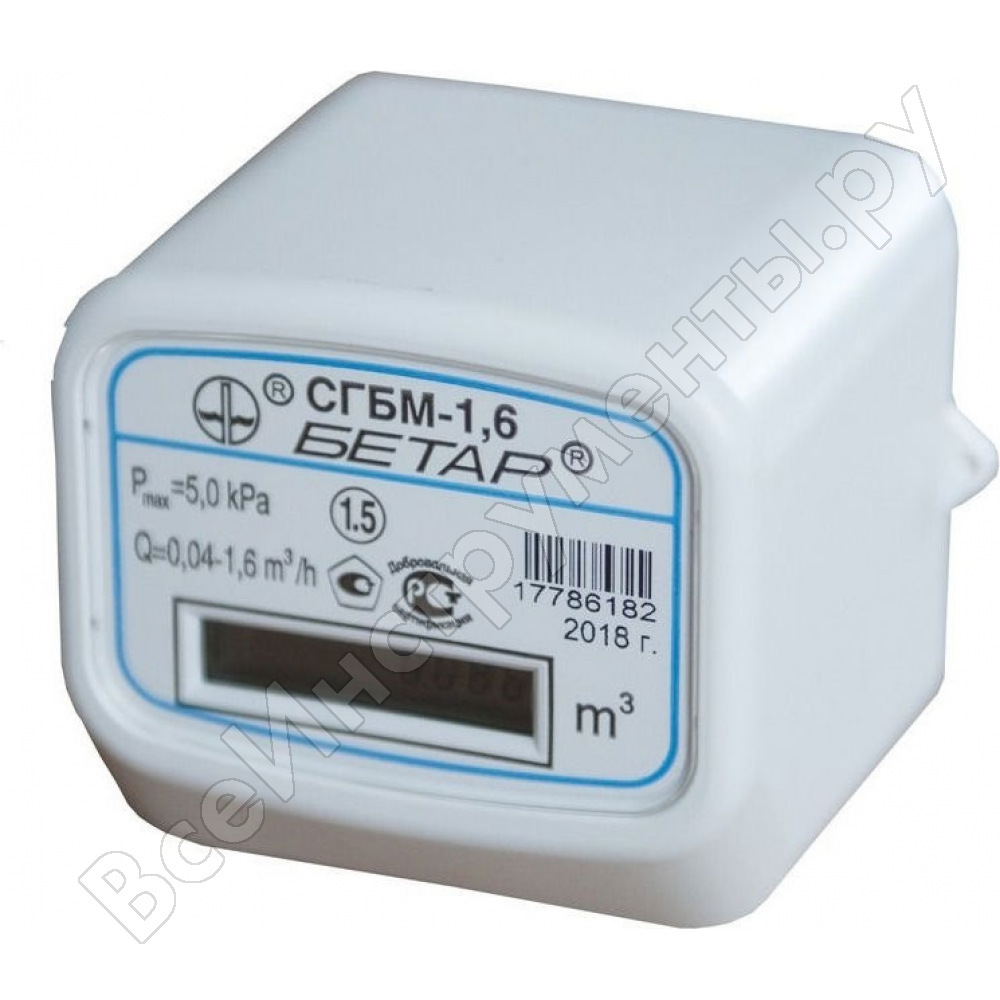 Счетчик газа бетар сгбм-1.6 - технические характеристики