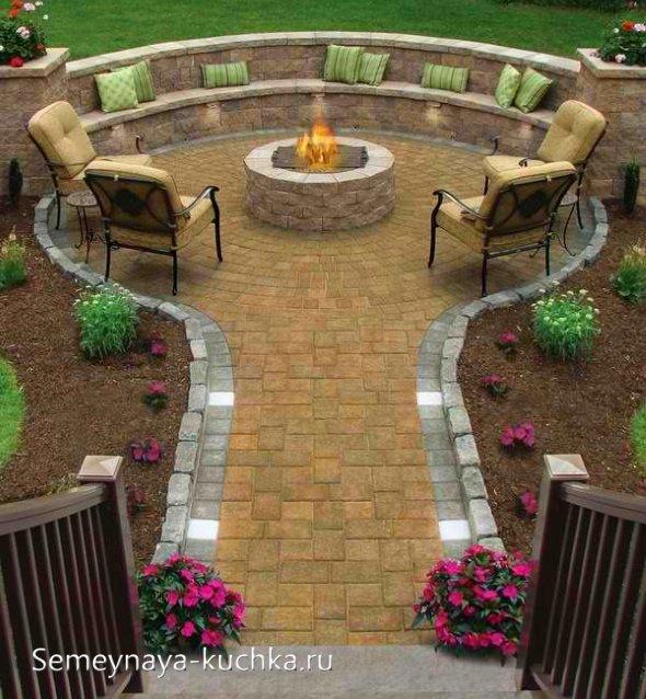 Кострище на даче своими руками (54 фото): выбор места для очага на дачном участке, идеи костра в саду. как сделать уличную чашу по чертежам с размерами?