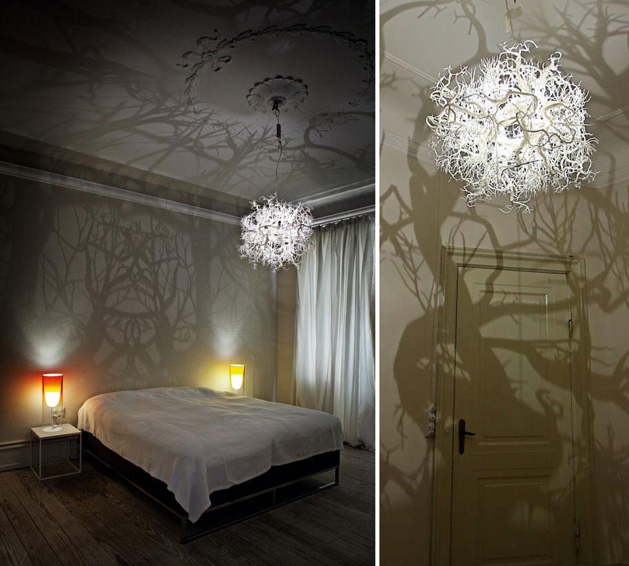 Необычные светильники (44 фото): оригинальные модели из дерева для комнаты и сада