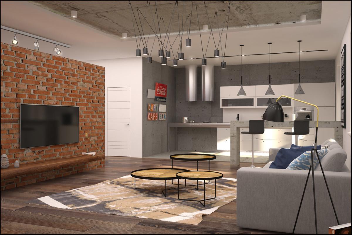 Потолок в стиле лофт: выбор конструкции и освещения