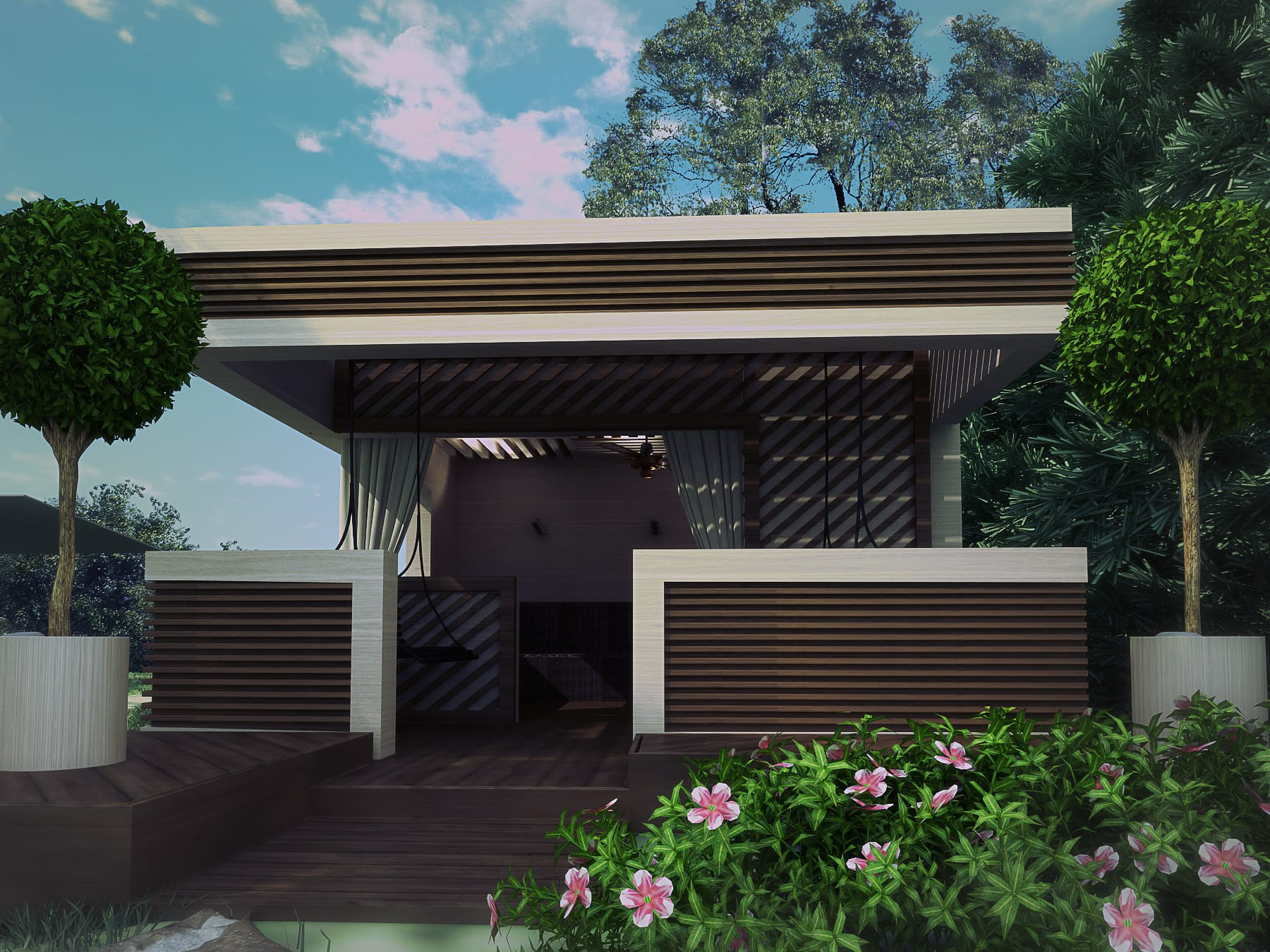 Красивое патио на даче: как построить и оформить
