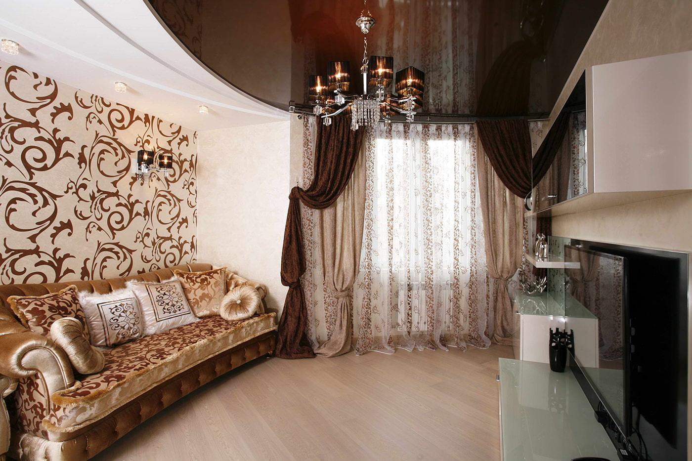 Коричневые шторы в интерьере: стильные сочетания для вашего дома