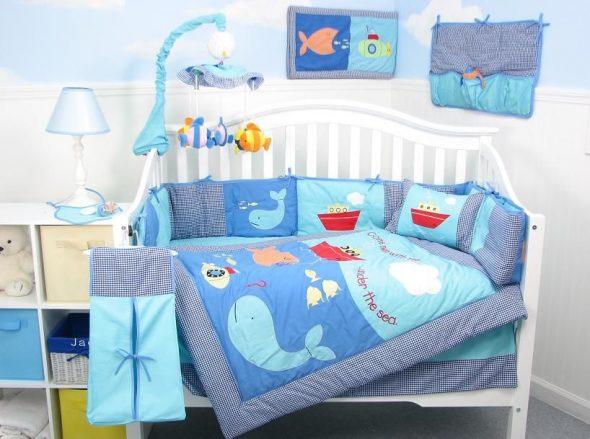 бортики в кроватку для новорожденных фото
