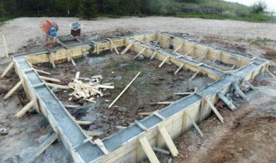 Сколько стоит залить ленточный фундамент - о цементе инфо