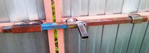Защелка на калитку своими руками - всё о воротах и заборе