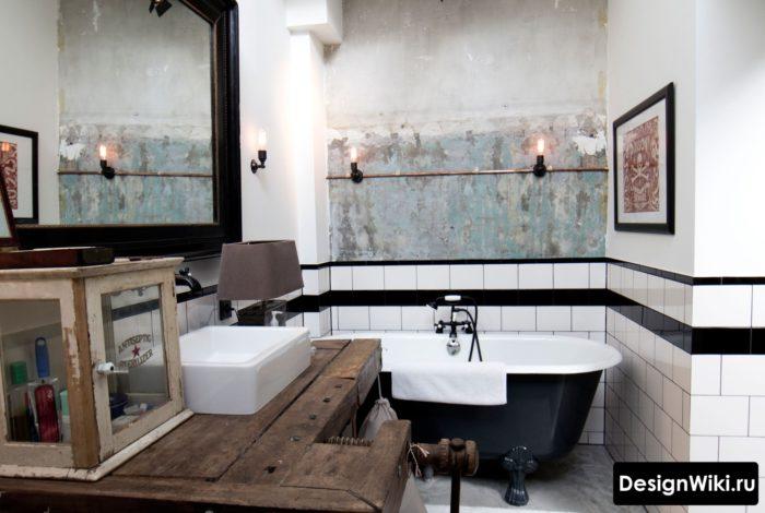 Дизайн ванной комнаты в стиле лофт (фото) – идеи интерьера