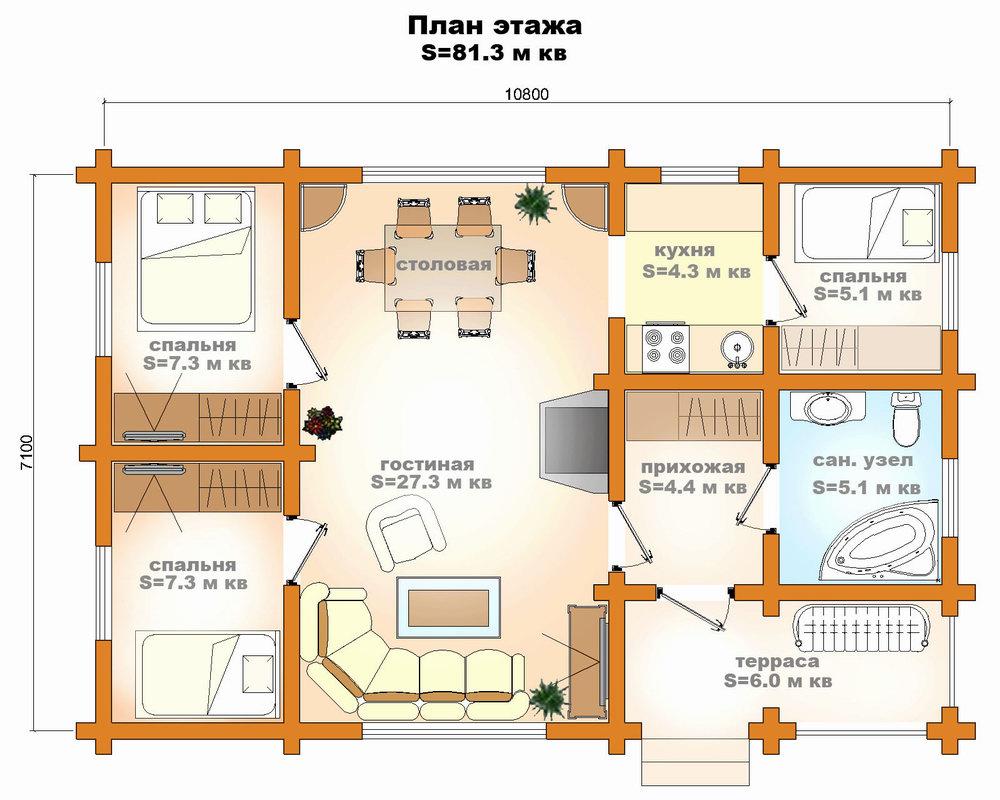 схема дом