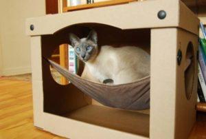 домик для кошки своими руками пошаговая