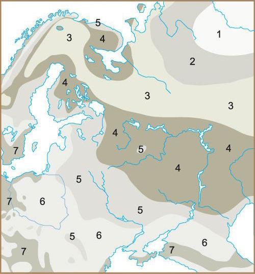 Зоны морозостойкости растений — карта россии и таблица зон usda