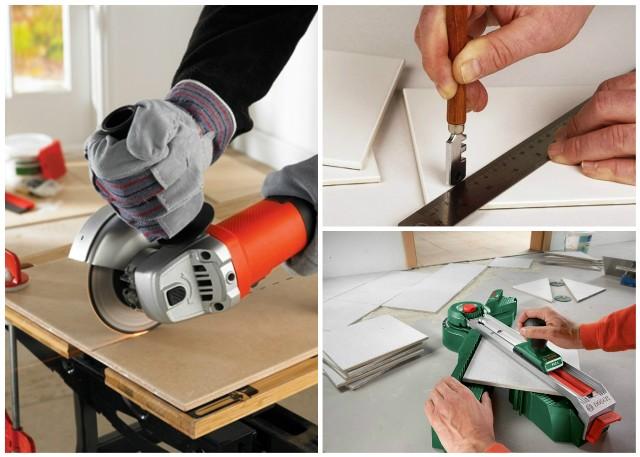 Как резать плитку плиткорезом ручным - обзор технологии и видео