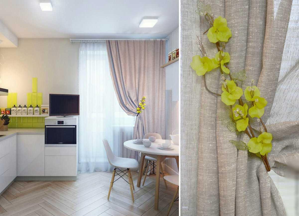 занавески на кухню короткие фото