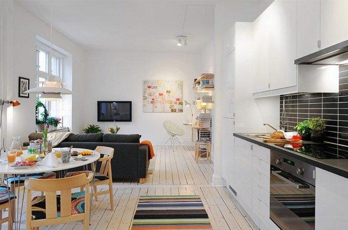 кухня студия фото дизайн интерьера