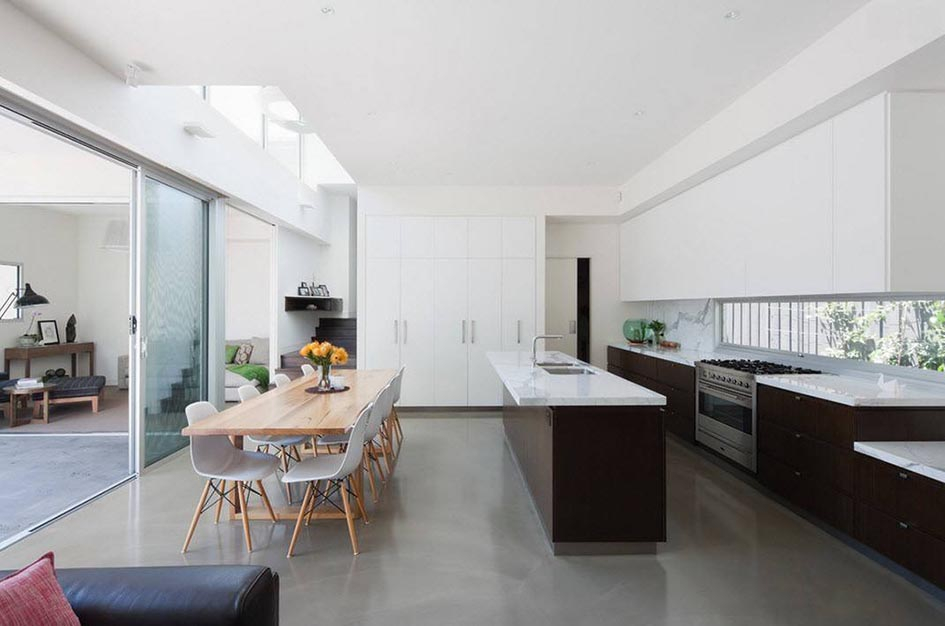 интерьер кухни столовой в частном доме фото