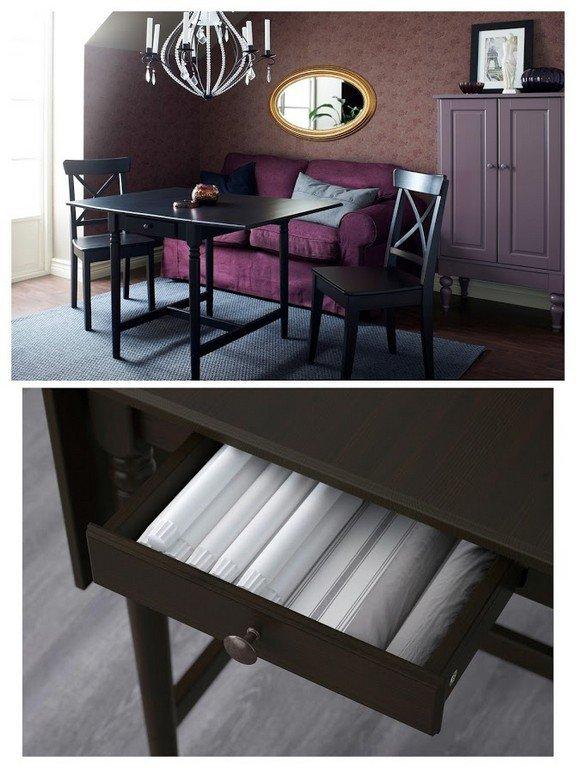 стол икеа кухонный деревянный