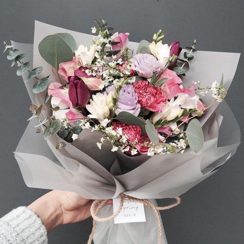 простые букеты из цветов