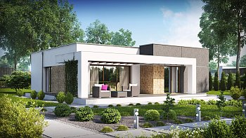 Фото планировки одноэтажного дома 10 на 10: грамотный проект
