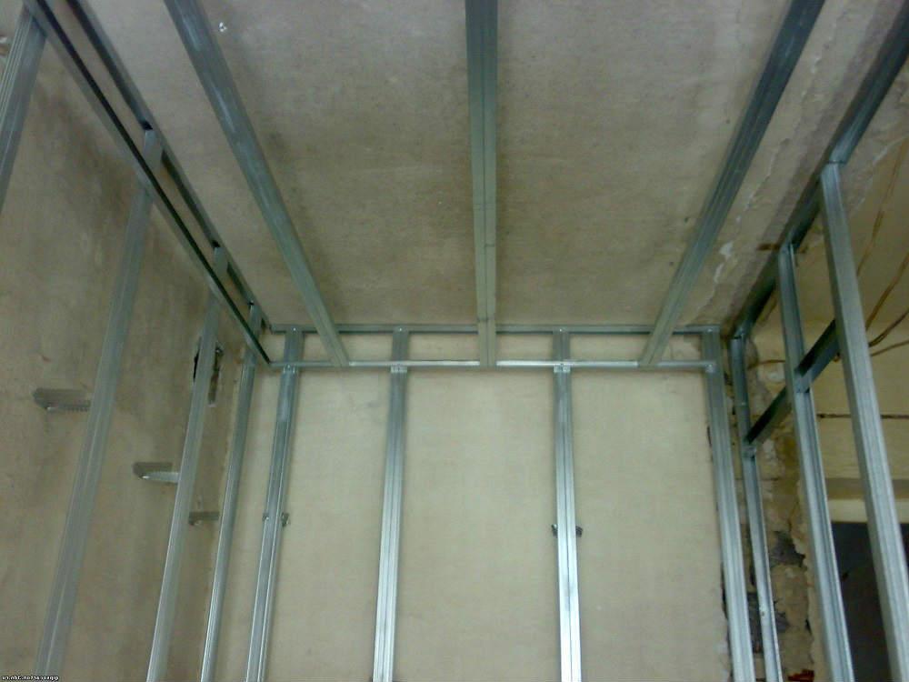 Профиль для крепления гипсокартона: потолочный, стеновой, несущий и направляющий