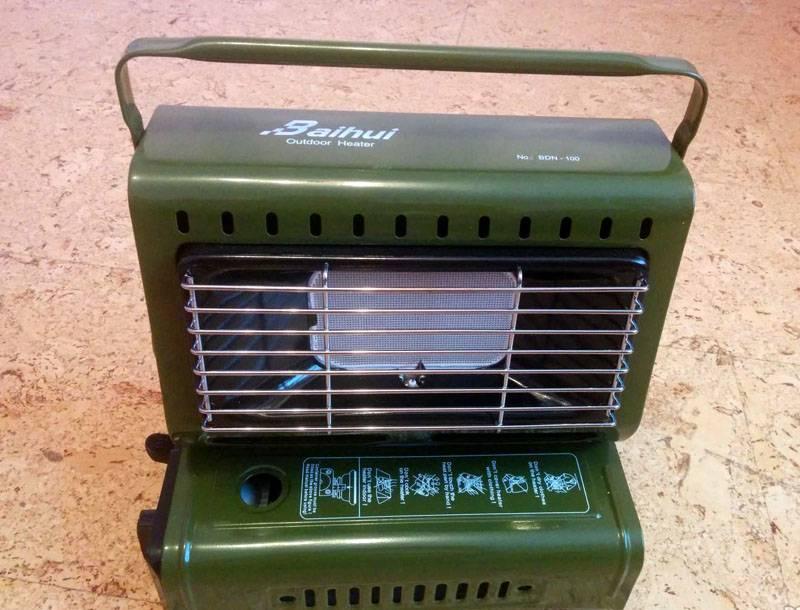газовый нагреватель воздуха от баллонного газа