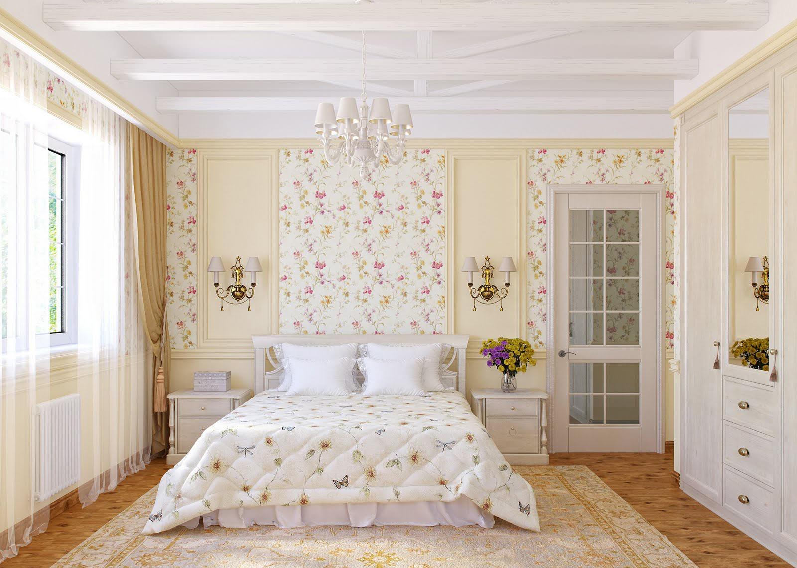 Дизайн спальни в светлых тонах + фото