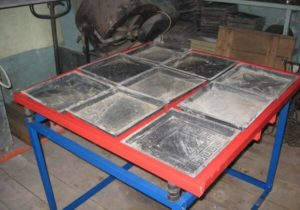 Станок для производства тротуарной плитки и оборудование для изготовления