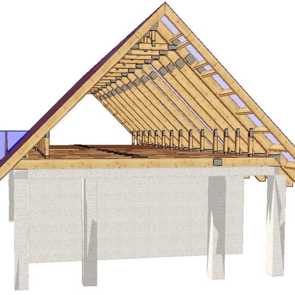 проекты одноэтажных домов с двухскатной крышей