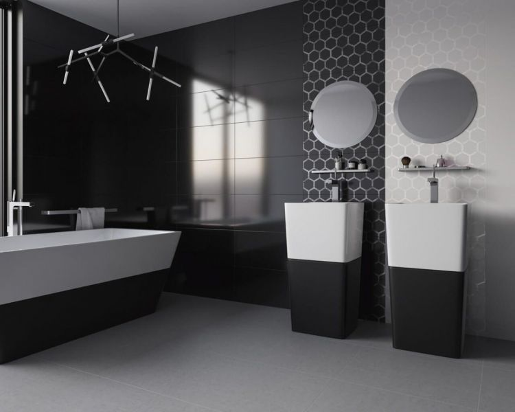 черно белый дизайн квартиры