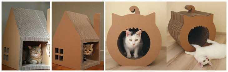 домик для кошки своими руками из фанеры