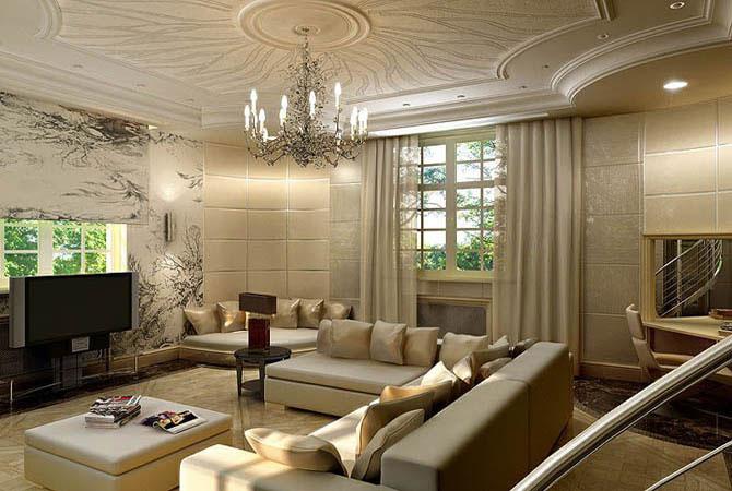 стильные гостиные в современном стиле